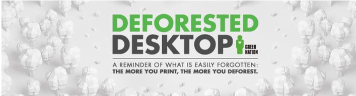 Deforested Desktop: l'app che sensibilizza contro la deforestazione