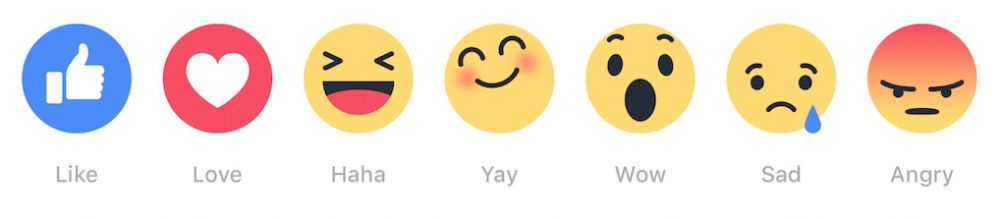 "Reactions: su Facebook non più solo ""like"""