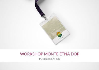 WORKSHOP MONTE ETNA DOP