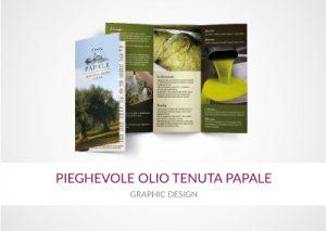 pieghevole olio tenuta papale portfolio