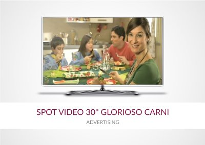 "SPOT VIDEO 30"" POSTER 6×3 GLORIOSO CARNI"