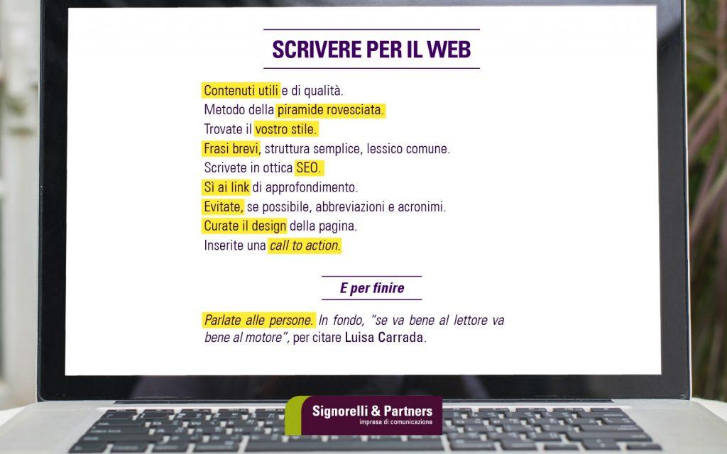 Scrivere bene o scrivere per il Web?