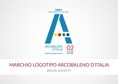 MARCHIO LOGOTIPO ARCOBALENO D'ITALIA