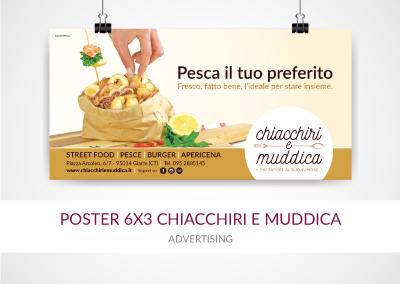 POSTER 6X3 CHIACCHIRI E MUDDICA